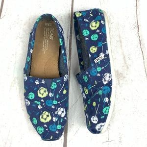 TOMS Blue with colorful Dandelions S-91/2